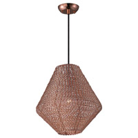 Maxim 12197CP Twisp 1 Light 15 inch Copper Pendant Ceiling Light