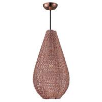 Maxim 12198CP Twisp 1 Light 11 inch Copper Pendant Ceiling Light