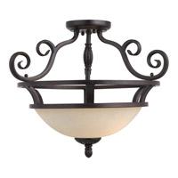 Maxim 12201FIOI Manor 2 Light 20 inch Oil Rubbed Bronze Semi Flush Mount Ceiling Light