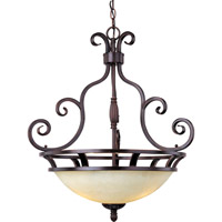 Maxim 12202FIOI Manor 3 Light 23 inch Oil Rubbed Bronze Pendant Ceiling Light