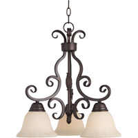 Maxim 12203FIOI Manor 3 Light 19 inch Oil Rubbed Bronze Mini Chandelier Ceiling Light