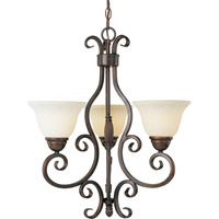 Maxim Lighting Manor 3 Light Mini Chandelier in Oil Rubbed Bronze 12204FIOI