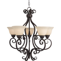 Maxim Lighting Manor 5 Light Single Tier Chandelier in Oil Rubbed Bronze 12205FIOI