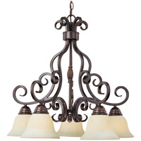 Manor 5 Light 26 inch Oil Rubbed Bronze Down Light Chandelier Ceiling Light