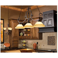 Manor 3 Light 45 inch Oil Rubbed Bronze Island Pendant Ceiling Light