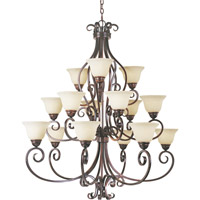 Maxim 12209FIOI Manor 15 Light 45 inch Oil Rubbed Bronze Multi-Tier Chandelier Ceiling Light