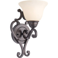 Maxim Lighting Manor 1 Light Wall Sconce in Oil Rubbed Bronze 12211FIOI