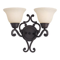 Maxim Lighting Manor 2 Light Wall Sconce in Oil Rubbed Bronze 12212FIOI
