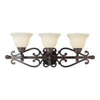 Manor 3 Light 29 inch Oil Rubbed Bronze Bath Light Wall Light