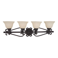 Manor 4 Light 37 inch Oil Rubbed Bronze Bath Light Wall Light