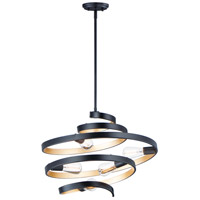 Maxim 12235BKGLD Twister 5 Light 25 inch Black and Gold Multi-Light Pendant Ceiling Light