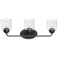 Maxim 12263CDBK Acadia 3 Light 25 inch Black Vanity Light Wall Light