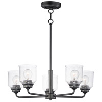 Maxim 12266CDBK Acadia 5 Light 26 inch Black Chandelier Ceiling Light