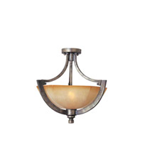 Maxim Lighting Moda 2 Light Semi-Flush Mount in Florentine 12301KLFN photo thumbnail