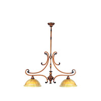 Maxim Lighting Marquis 2 Light Island Pendant in Umber Wormwood 12361PVUWW