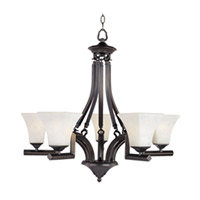 Maxim Lighting Mission Bay 5 Light Single Tier Chandelier in Heirloom Brass 12425FLHB