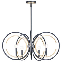 Maxim 12505BKGLD Clip 5 Light 28 inch Black and Gold Chandelier Ceiling Light