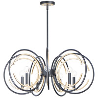 Maxim 12507BKGLD Clip 7 Light 29 inch Black and Gold Chandelier Ceiling Light