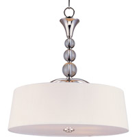 Maxim Lighting Rondo 4 Light Pendant in Polished Nickel 12753WTPN