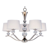 Maxim Lighting Rondo 5 Light Multi-Tier Chandelier in Polished Nickel 12755WTPN
