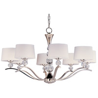 Maxim Lighting Rondo 8 Light Multi-Tier Chandelier in Polished Nickel 12758WTPN