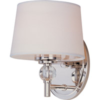 Maxim Lighting Rondo 1 Light Wall Sconce in Polished Nickel 12761WTPN