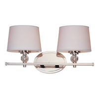 Maxim 12762WTPN Rondo 2 Light 17 inch Polished Nickel Bath Light Wall Light photo thumbnail