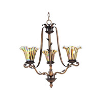 Maxim Lighting Vigneto 3 Light Single Tier Chandelier in Wormwood 13104TGWW