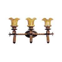 Lakewood 3 Light 28 inch Windsor Bronze Bath Light Wall Light