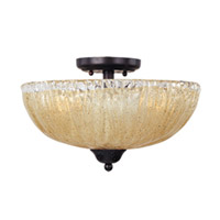 Maxim Lighting Barcelona 3 Light Semi Flush Mount in Oil Rubbed Bronze 13410AIOI photo thumbnail