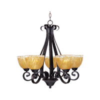 Maxim Lighting Barcelona 5 Light Single Tier Chandelier in Oil Rubbed Bronze 13415AIOI