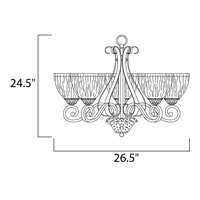Maxim Lighting Barcelona 5 Light Single Tier Chandelier in Oil Rubbed Bronze 13415AIOI alternative photo thumbnail