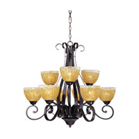 Maxim 13416AIOI Barcelona 9 Light 33 inch Oil Rubbed Bronze Multi-Tier Chandelier Ceiling Light