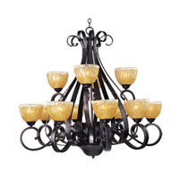 Maxim Lighting Barcelona 12 Light Multi-Tier Chandelier in Oil Rubbed Bronze 13418AIOI