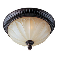 Maxim 13500WSOI Allentown 2 Light 15 inch Oil Rubbed Bronze Flush Mount Ceiling Light