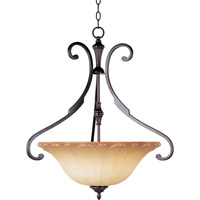 Maxim 13503WSOI Allentown 3 Light 25 inch Oil Rubbed Bronze Pendant Ceiling Light