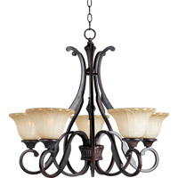 Maxim 13505WSOI Allentown 5 Light 27 inch Oil Rubbed Bronze Single Tier Chandelier Ceiling Light