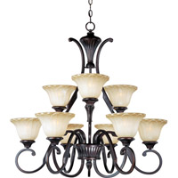 Maxim 13506WSOI Allentown 9 Light 32 inch Oil Rubbed Bronze Multi-Tier Chandelier Ceiling Light