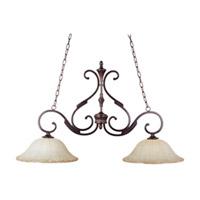 Maxim Lighting Allentown 2 Light Island Pendant in Oil Rubbed Bronze 13509WSOI
