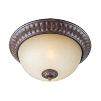 Maxim Lighting Augusta 2 Light Flush Mount in Auburn Florentine 13560CFAF