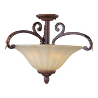Maxim Lighting Augusta 3 Light Semi Flush Mount in Auburn Florentine 13562CFAF