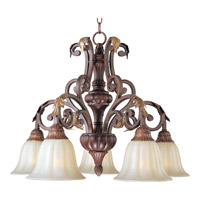 Augusta 5 Light 27 inch Auburn Florentine Down Light Chandelier Ceiling Light