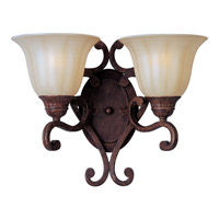 Maxim Lighting Augusta 2 Light Wall Sconce in Auburn Florentine 13572CFAF