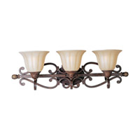 Maxim Lighting Augusta 3 Light Bath Light in Auburn Florentine 13573CFAF