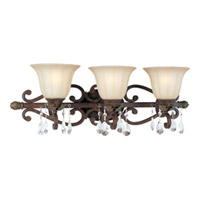 Maxim Lighting Augusta 3 Light Bath Light in Auburn Florentine 13573CFAF/CRY089