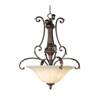 Maxim Lighting Augusta 3 Light Pendant in Auburn Florentine 13583CFAF