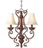 Maxim Lighting Augusta 3 Light Mini Chandelier in Auburn Florentine 13584AF