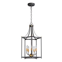 Maxim 13597OIAB Wellington 5 Light 18 inch Oil Rubbed Bronze and Antique Brass Multi-Light Pendant Ceiling Light