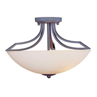 Maxim Lighting Ashford 3 Light Semi-Flush Mount in Burnish Texture 13601SWBT photo thumbnail