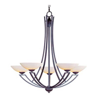Maxim Lighting Ashford 5 Light Single Tier Chandelier in Burnish Texture 13605SWBT photo thumbnail